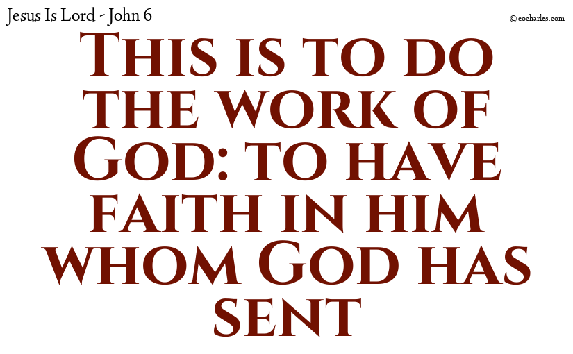 Do the work of God; have faith in Jesus