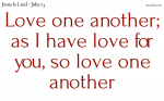 Have love one for another