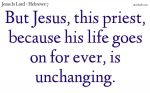 Jesus, life for ever