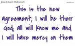 The new agreement; God with us.