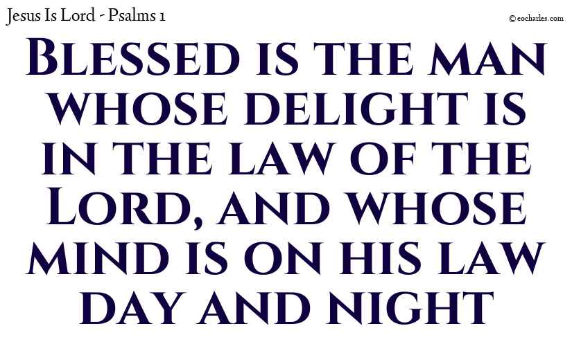 Blessed is the man whose delight is in the law of the Lord, and whose mind is on his law day and night