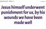 Jesus himself underwent punishment for us