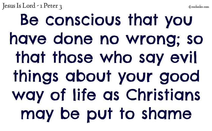Your good way of life as Christians