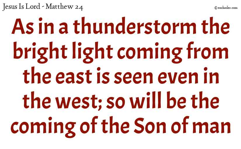 The coming of the Son of man