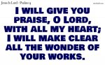 I will give you praise
