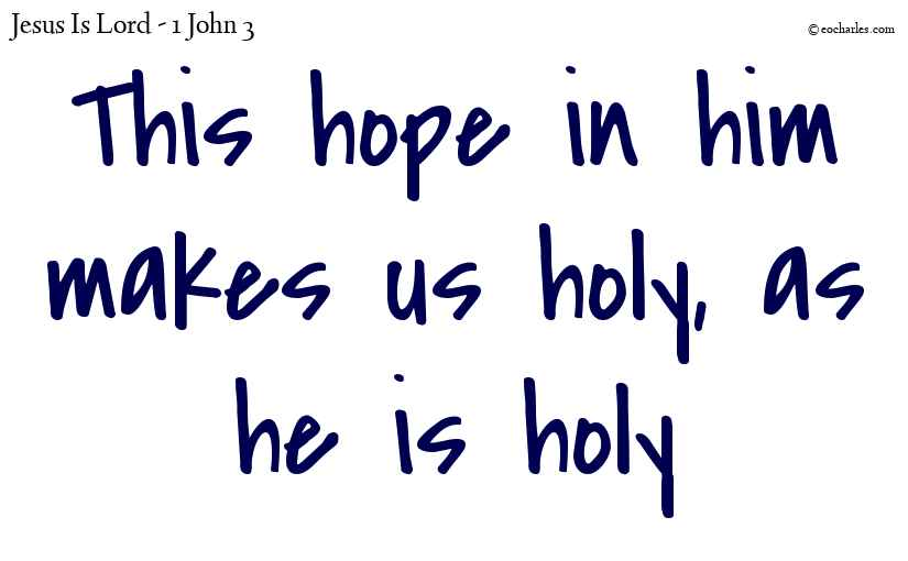 This hope in him makes us holy