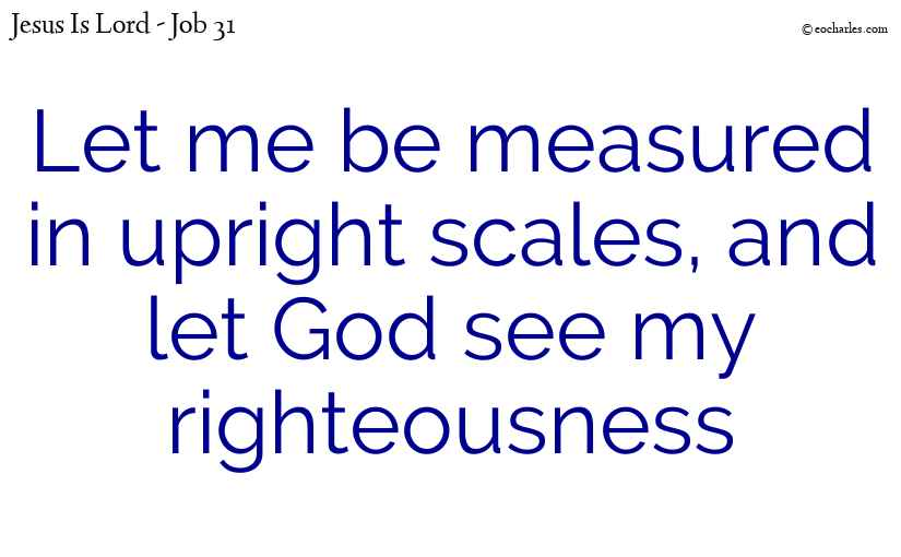 God sees our righteousness