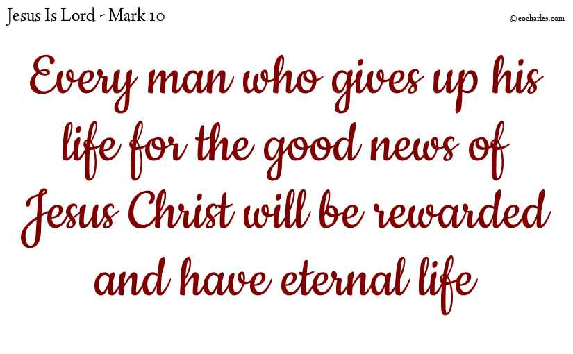Every man will be rewarded according to his works