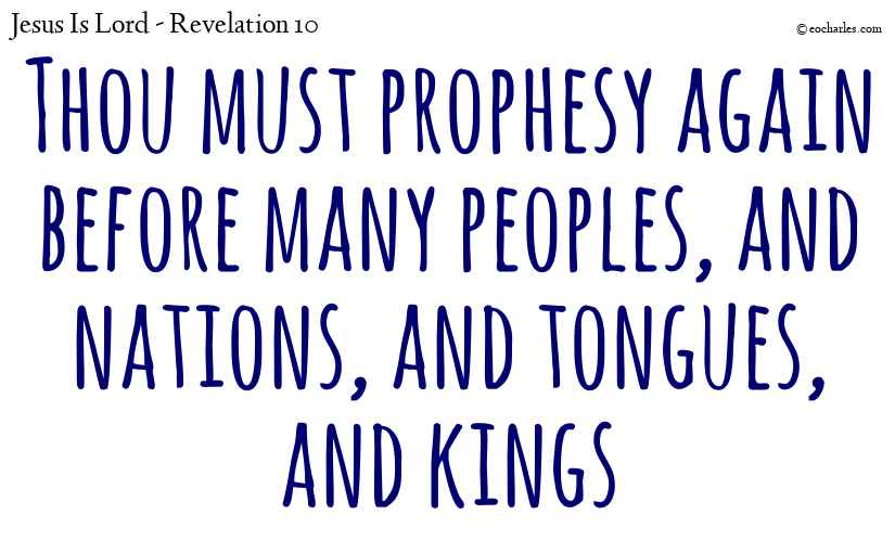 You must prophesy