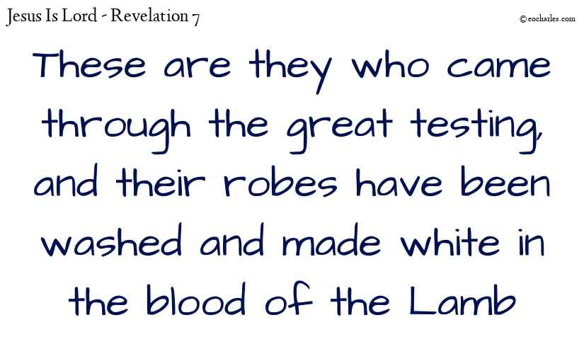 Made white in the blood of the lamb