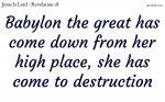 Babylon the great is fallen
