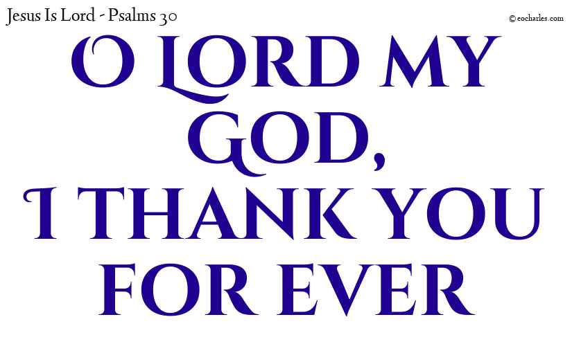 O Lord my God, I thank you for ever