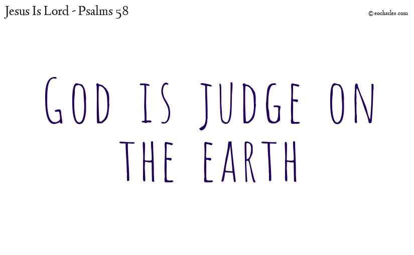 God is judge on the earth