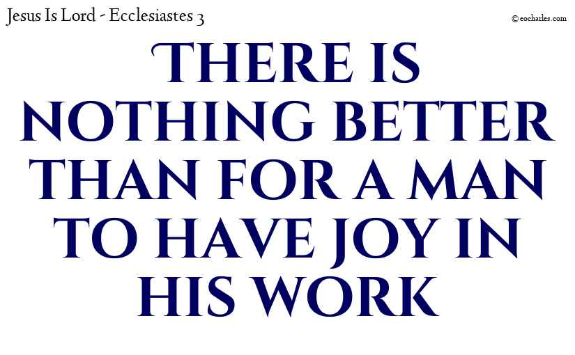 Joy is your reward