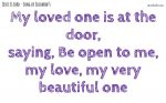 My loved one is at the door