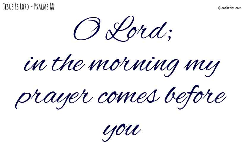 In the morning my prayer comes before you