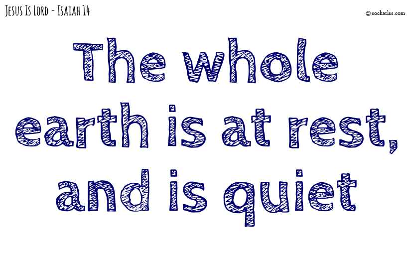 The whole earth is at rest