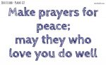 Make prayers for peace