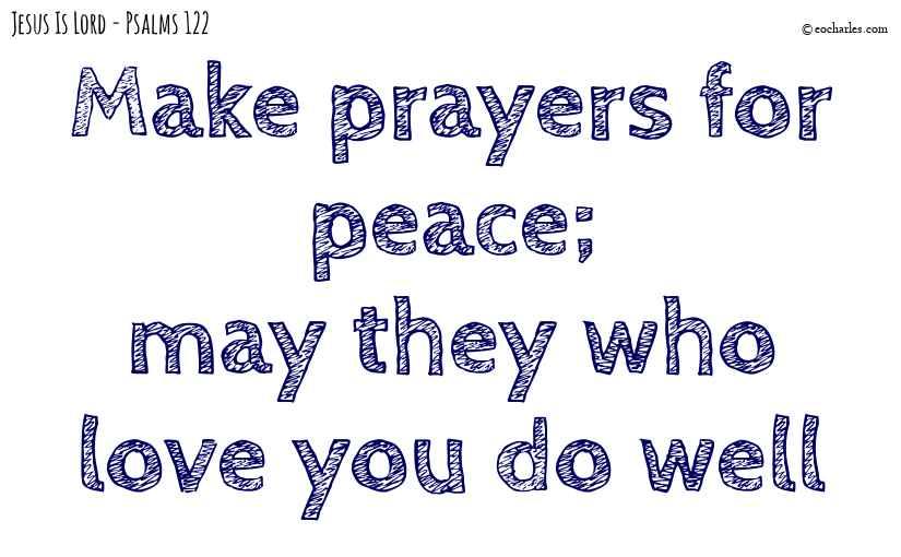 Make prayers for peace