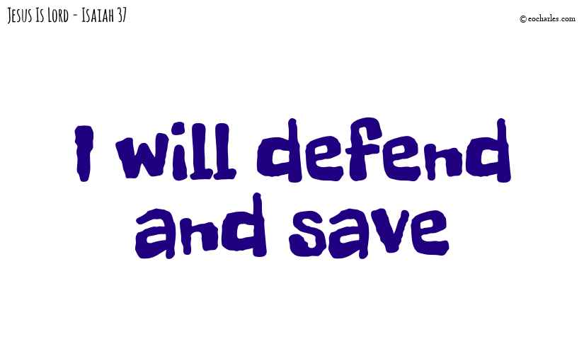 I will defend and save