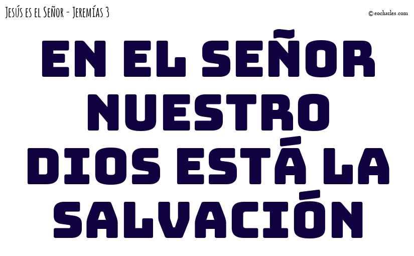 En el SEÑOR nuestro Dios está la salvación