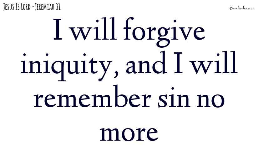 I will forgive iniquity