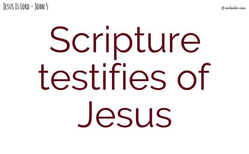 Scripture testifies of Jesus